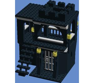 Lauren's Bricks LLC Black Castle Dungeon with Watchtower Set