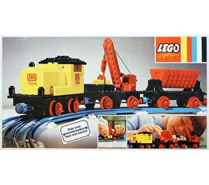 LEGO 12v Diesel Locomotive with Crane Wagon and Tipper Wagon Set 724