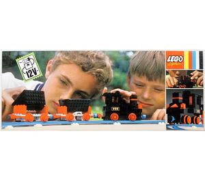 LEGO 12V Electric Train with 2 Wagons Set 722-2