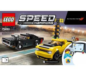 LEGO 2018 Dodge Challenger SRT Demon and 1970 Dodge Charger R/T Set 75893 Instructions