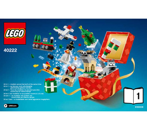 LEGO 24 in 1 Holiday Countdown Set 40222 Instructions