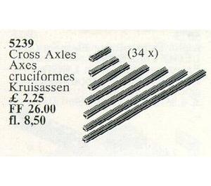 LEGO 34 Cross Axles Set 5239