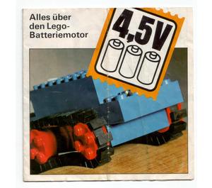 LEGO 4.5V Motor Set with Rubber Tracks 103-1 Instructions