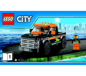 LEGO 4x4 with Powerboat Set 60085 Instructions