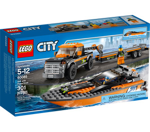 LEGO 4x4 with Powerboat Set 60085 Packaging