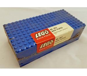 LEGO 5 - 10X20 base plates - Blue Set 063-1