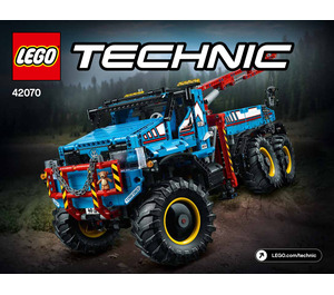 LEGO 6x6 All Terrain Tow Truck Set 42070 Instructions