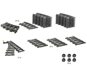 LEGO 9V Train Switching Track Collection Set 4206-1