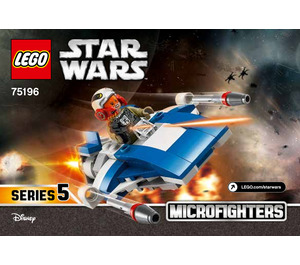 LEGO A-Wing vs. TIE Silencer Microfighters Set 75196 Instructions