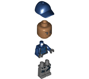 LEGO ACU, Dark Flesh and Blue Cap Minifigure