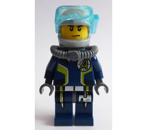 LEGO Agent Chase, Deep Sea Quest Diver Outfit, In-set Variant Minifigure