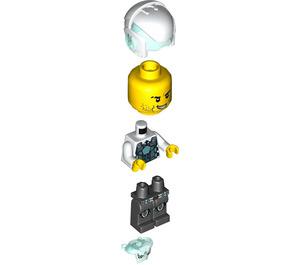 LEGO Agent Jack Fury with Helmet and Shoulder Armor Minifigure
