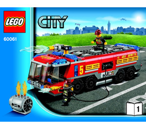 LEGO Airport Fire Truck Set 60061 Instructions