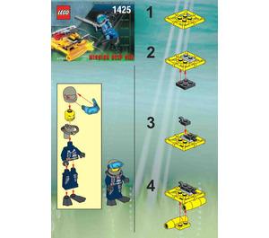 LEGO Alpha Team Jet Sub Set 1425 Instructions