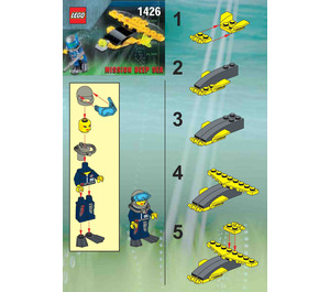 LEGO Alpha Team Wing Diver Set 1426 Instructions