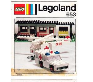 LEGO Ambulance and Helicopter Set 653-1 Instructions
