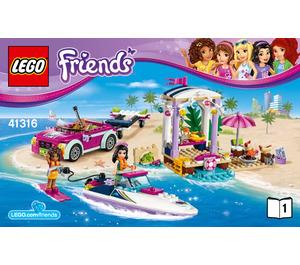 LEGO Andrea's Speedboat Transporter Set 41316 Instructions