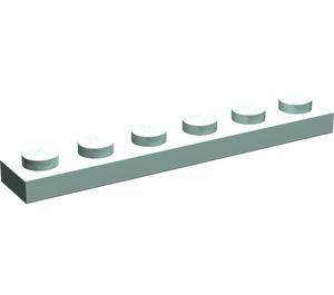 LEGO Aqua Plate 1 x 6 (3666)