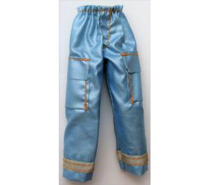 LEGO Aqua Scala Clothes Female Trousers Shiny with 2 Pockets and Orange Stitching