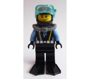 LEGO Aquabase Invasion Diver with Stubble Beard Minifigure