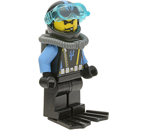 LEGO Aquaraider Diver with Angry Grin Minifigure