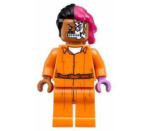 LEGO Arkham Two-Face with Orange Jumpsuit Minifigure