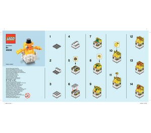 LEGO Baby Chick Set 40242 Instructions