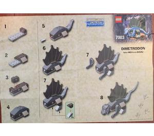 LEGO Baby Dimetrodon Set 7003 Instructions