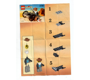 LEGO Bandit with Gun Set 6790 Instructions