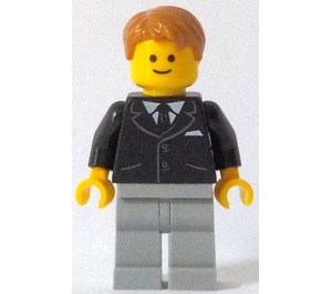 LEGO Bank Secretary Minifigure without Side Lines