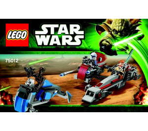 LEGO BARC Speeder with Sidecar Set 75012 Instructions