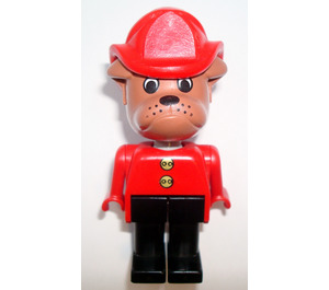 LEGO Barty Bulldog with Fire Helmet 1987 Version Fabuland Minifigure