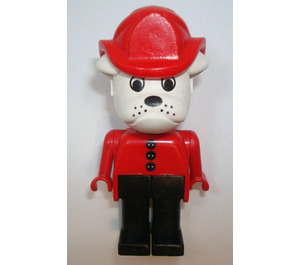 LEGO Barty Bulldog with Fire Helmet and 3 Buttons on Shirt Fabuland Figure