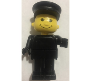 LEGO Basic Figure with Black Legs and Black Hat Minifigure
