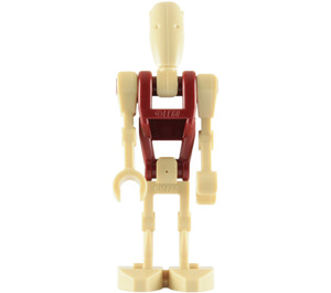 LEGO Battle Droid with Red Torso and One Straight Arm Minifigure
