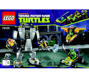 LEGO Baxter Robot Rampage Set 79105 Instructions