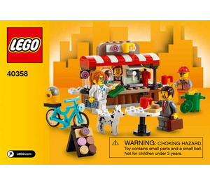 LEGO Bean There, Donut That Set 40358 Instructions