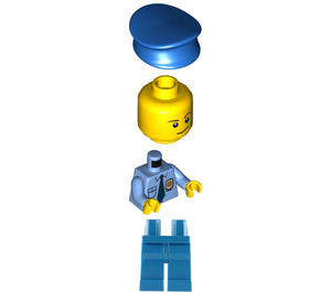 LEGO Big Escape Police Office with Crooked Smile Minifigure