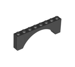LEGO Black Arch 1 x 8 x 2 Thick Top and Reinforced Underside (3308)