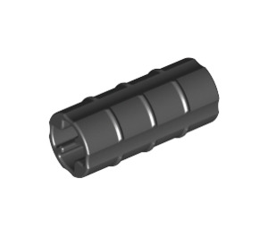 LEGO Black Axle Connector (Ridged with 'x' Hole) (6538)