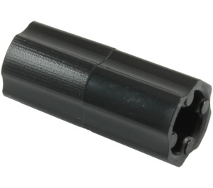 LEGO Black Axle Connector (Smooth with 'x' Hole) (59443)