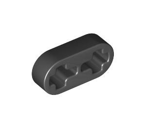 LEGO Black Beam 2 x 0.5 with Axle Holes (41677 / 44862)