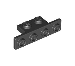 LEGO Black Bracket 1 x 2 - 1 x 4 with Rounded Corners (2436 / 10201)
