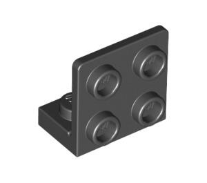 LEGO Black Bracket 1 x 2 - 2 x 2 Up (99207)