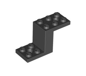 LEGO Black Bracket 2 x 5 x 2.33 and Inside Stud Holder (28964 / 76766)