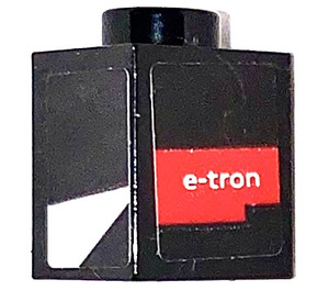 LEGO Black Brick 1 x 1 with E-tron and white decoration Sticker