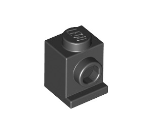 LEGO Black Brick 1 x 1 with Headlight and No Slot (4070)