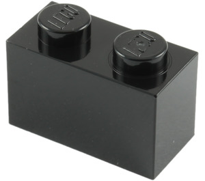 LEGO Black Brick 1 x 2 (3004)