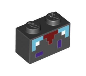 LEGO Black Brick 1 x 2 with Decoration (29915)