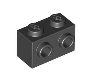 LEGO Black Brick 1 x 2 with Studs on One Side (11211)
